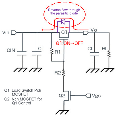 Load Switch Equivalent Circuit Diagram