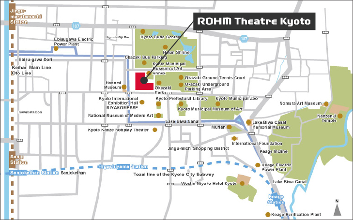 ROHM Theatre Kyoto Area Map