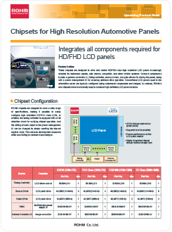 Chipsets for High Resolution Automotive Panels