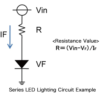 Series LED Lighting Circuit Example
