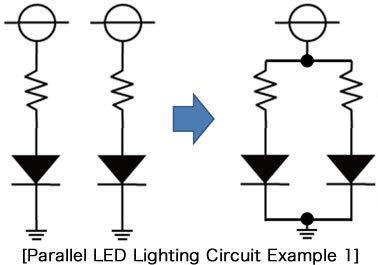 [Parallel LED Lighting Circuit Example 1]
