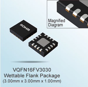 ROHM's New Power Supply Monitoring IC - VQFN16FV3030 with Wettable Flank Package