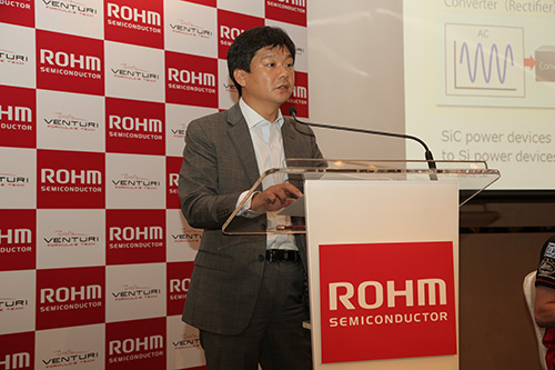 Dr. Kazuhide Ino- General Manager of the Power Device Division at ROHM- Speaking at Press Briefing in Hong Kong on October 8
