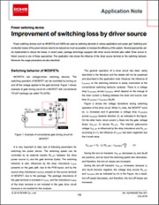 Improvement of switching loss by driver source