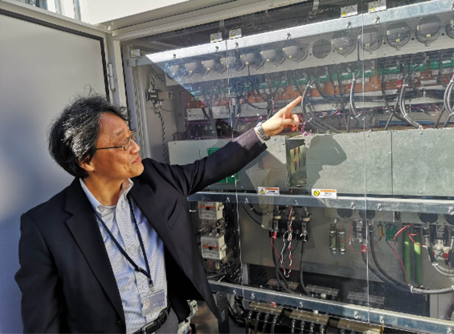 Mr. Okano of Takenaka Corp. Explains the Proprietary Power Supply System