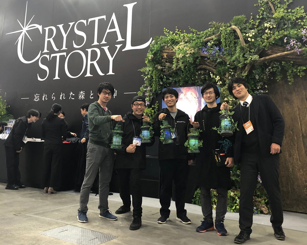 The Crystal Story Development Team with Lazurite Developer Mr. Saito
