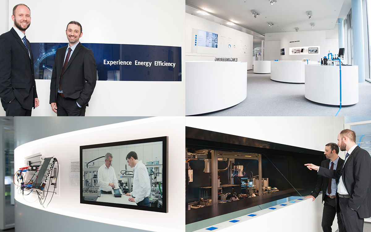 Fig. 1 Showroom introducing Festo's energy efficiency initiatives