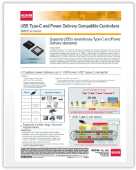USB Type-C and Power Delivery Compatible Controllers BM92Txx Series
