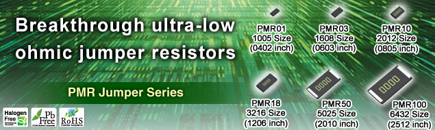 Ultra-low ohmic jumper chip resistors (PMR Jumper Series)