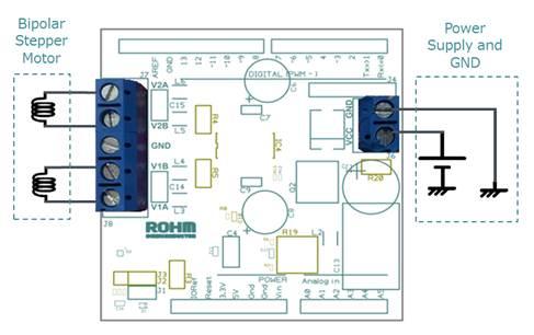 ROHM Stepper Motor Driver Shield for Arduino Platform