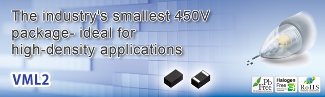 The industry's smallest 450V package - ideal for high-density applications