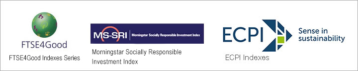 ROHM was selected as one constituent in the Social Responsibility Investment (SRI) index for its CSR activities