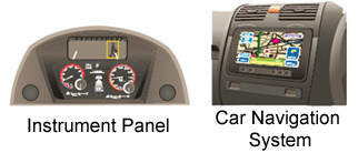 Cluster/instrument panels, Car navigation systems