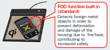 Built-in Foreign Object Detection (FOD)