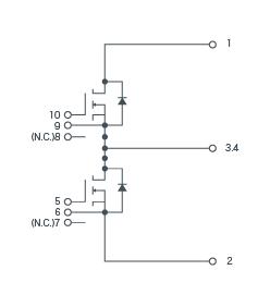 SiC-SiC-MOSFET構成