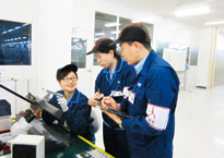 Training at ROHM Electronics Dalian co., Ltd.