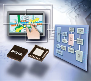 ROHM Introduces Industry's First Multi-Touch Controller for Resistive Touchscreens