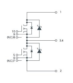 SiC-MOSFET + SiC-SBD構成