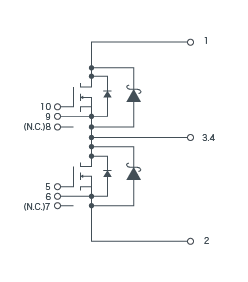 SiC-MOSFET+SiC-SBD 구성