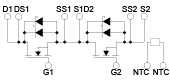 Internal Circuit Diagram(BSM300D12P2E001)