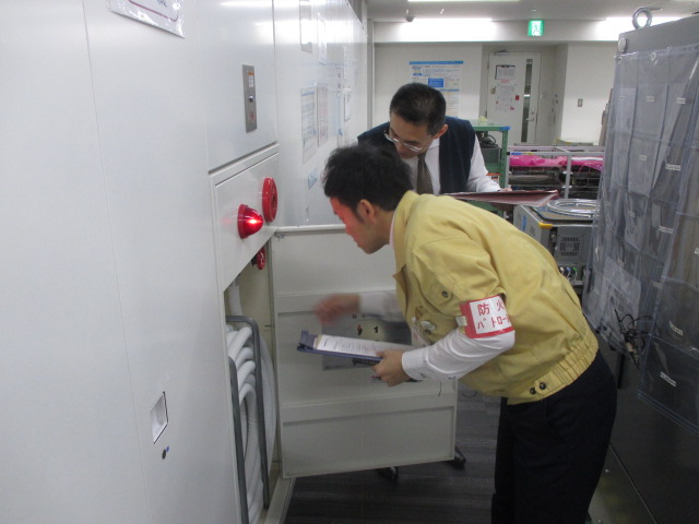 Fire protection patrol at Kyoto Technology Center