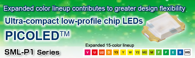 Ultra-compact low-profile chip LEDs: PICOLED™
