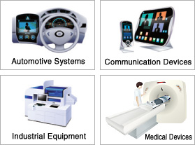 Automotive Systems,Communication Devices,Industrial Equipment,Medical Devices