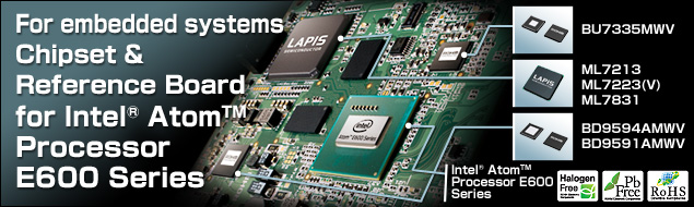 For embedded systems Chipset & ReferenceBoard for Intel® Atom™ Processor E600 Series