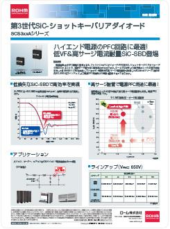 第3世代SiC-ショットキーバリアダイオード SCS3xxAシリーズ