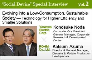 Evolving into a Low-Consumption, Sustainable Society — Technology for Higher Efficiency and Smaller Solutions