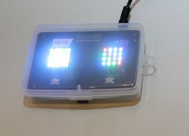 世界最小带反射镜高亮度三色LED