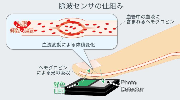 脈波センサの仕組み